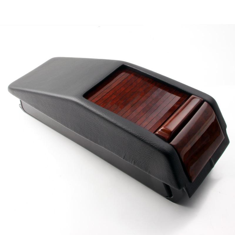 holz leder ablagebox wurzelholz mercedes w124 c124 neu ebay. Black Bedroom Furniture Sets. Home Design Ideas