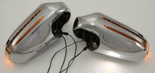 Chrom-Spiegelabdeckung-Spiegel-LED-Blinker-Mercedes-CLK-W209-SL-R230-W230