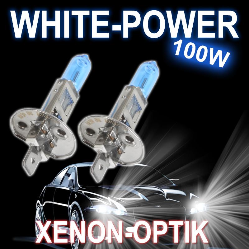 h1 xenon optik halogen lampen 12v 100w 90w 6000k white. Black Bedroom Furniture Sets. Home Design Ideas