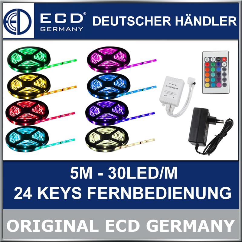 10m led smd strip leiste band lichtkette rgb 5050 fernbedienung netzteil ebay. Black Bedroom Furniture Sets. Home Design Ideas